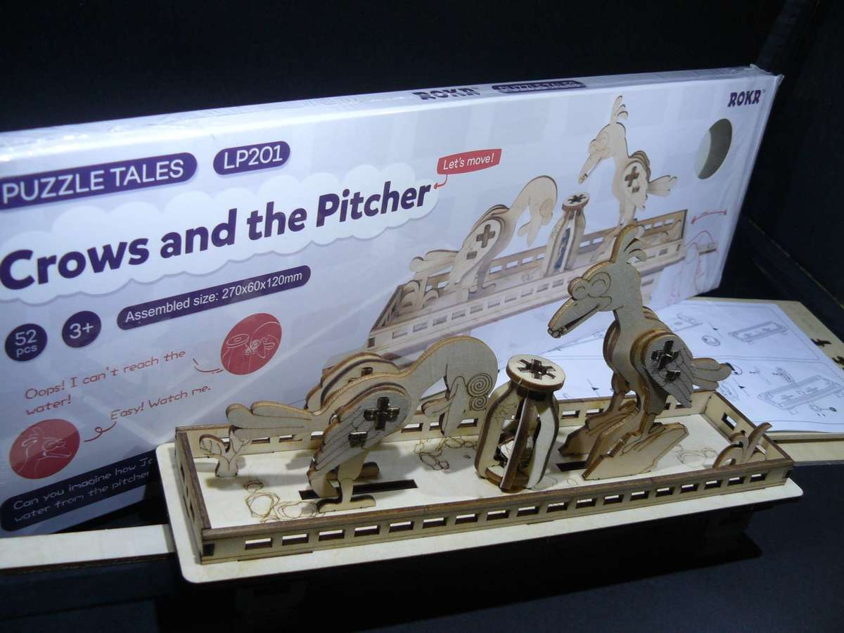 The Crows and the Pitcher - Laser Cut Wooden Model Kit - Clearance Below  Cost