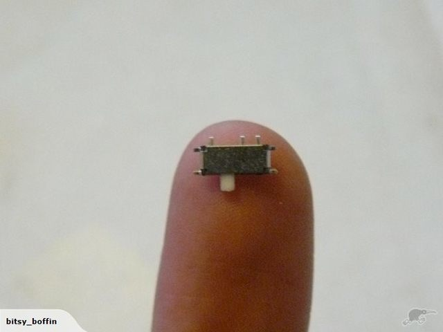 Very Miniature Toggle Slide Switch Smd