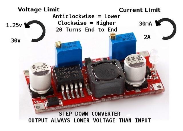 Constant Current/Voltage Step Down DC-DC Converter